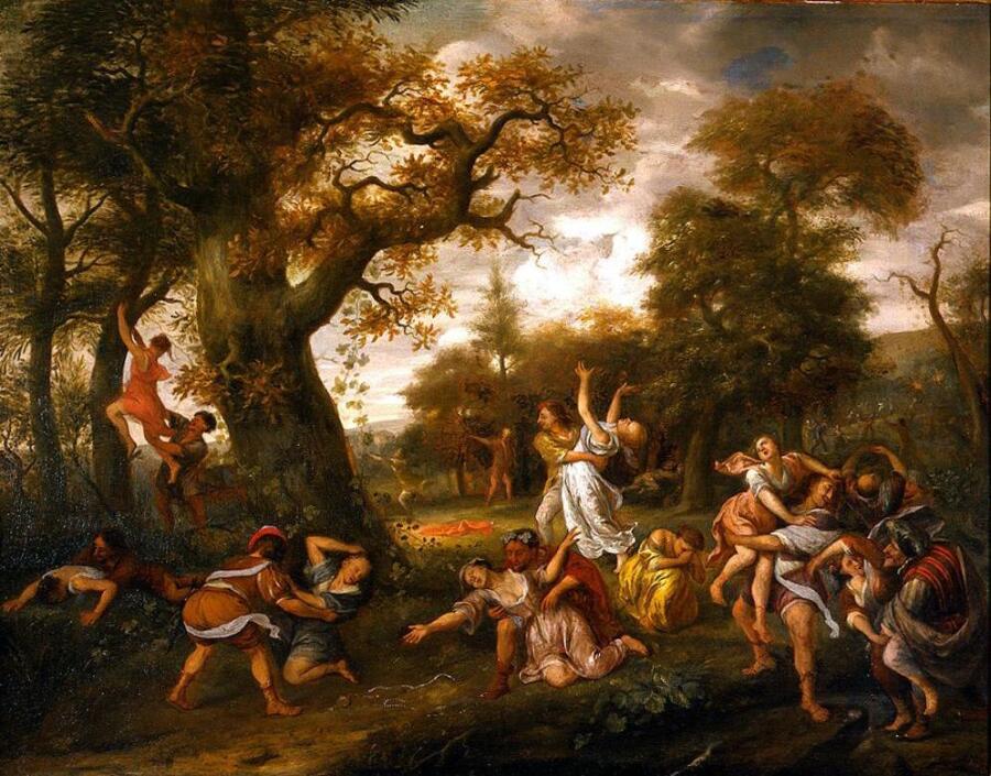 Ян Стен,  «Похищение сабинянок», 1667 г.