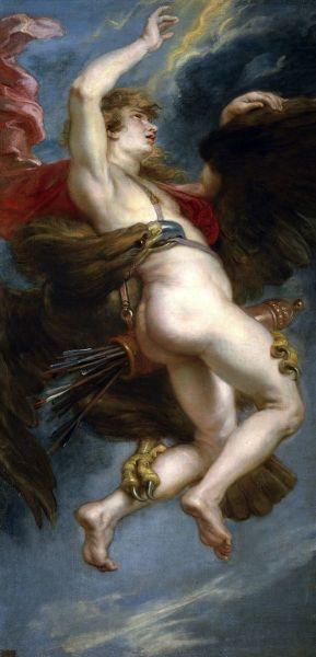 Питер Пауль Рубенс,  «Похищение Ганимеда», 1611 г.