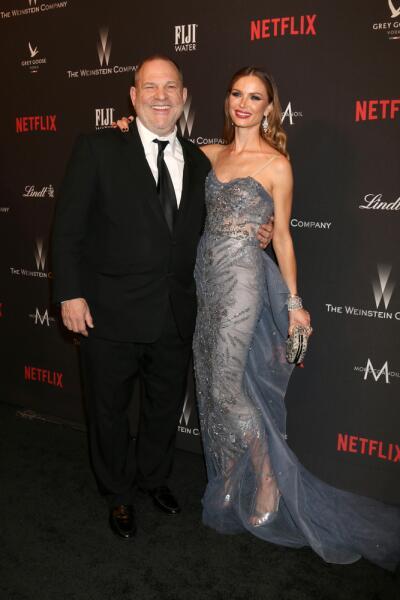 Харви Вайнштейн с женой Джорджиной Чапман, 8 января 2017 г.