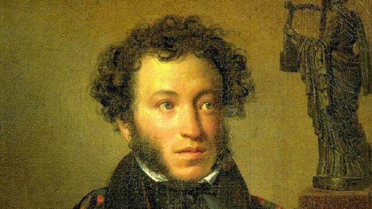 О. А. Кипренский,  «Портрет А. С. Пушкина», фрагмент, 1827 г.