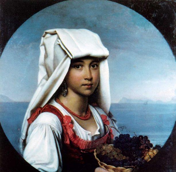 О. А. Кипренский,  «Неаполитанская девочка с плодами», 1831 г.