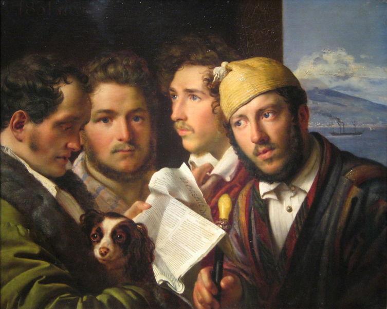 О. А. Кипренский,  «Читатели газет в Неаполе», 1831 г.