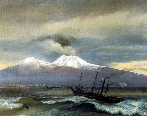 О. А. Кипренский,  «Вид Везувия в зимнее время»