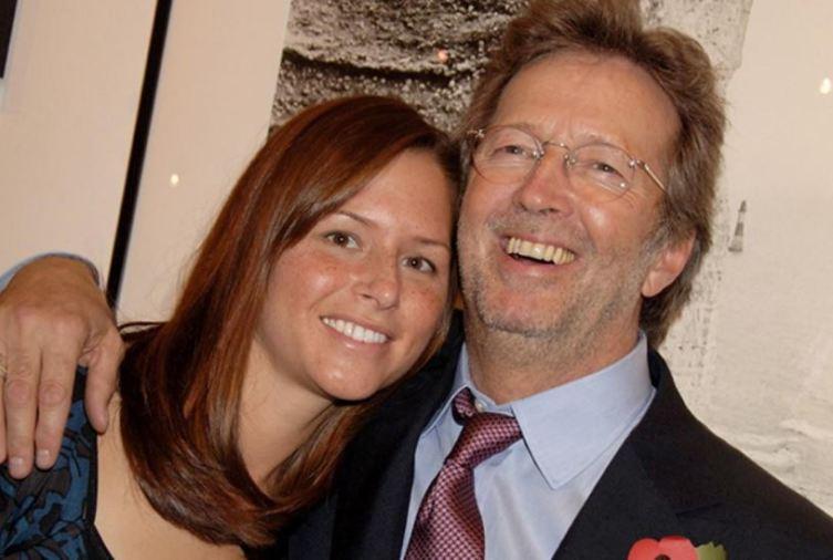 Эрик Клэптон с женой Мелией МакЭнери