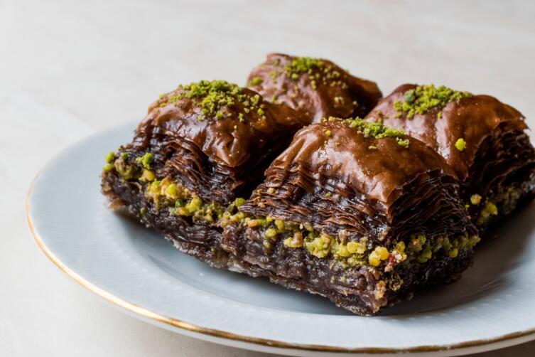 Пахлава с шоколадом