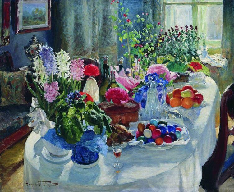 А. В. Маковский, «Пасхальный стол», 1916 г.