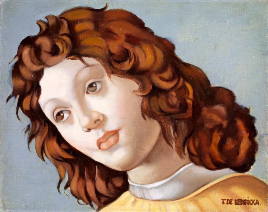 Тамара Лемпицка, «Портрет молодой женщины (вдохновлено Боттичелли)», 1950 г.
