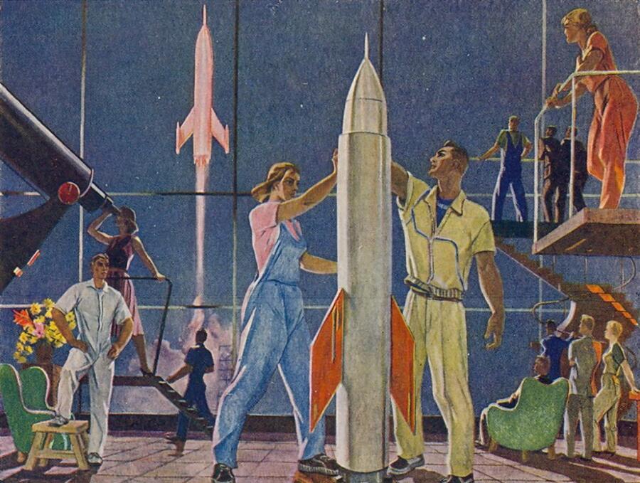 А. А. Дейнека, «Покорители космоса», 1961 г.