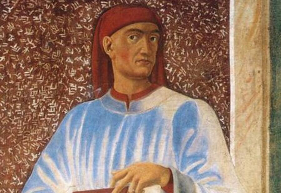 Андреа дель Кастаньо, «Джованни Боккаччо», фреска на вилле Кардуччо, ок. 1450 г.