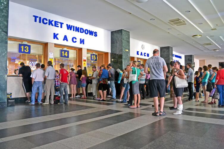 Вокзал в городе Киев