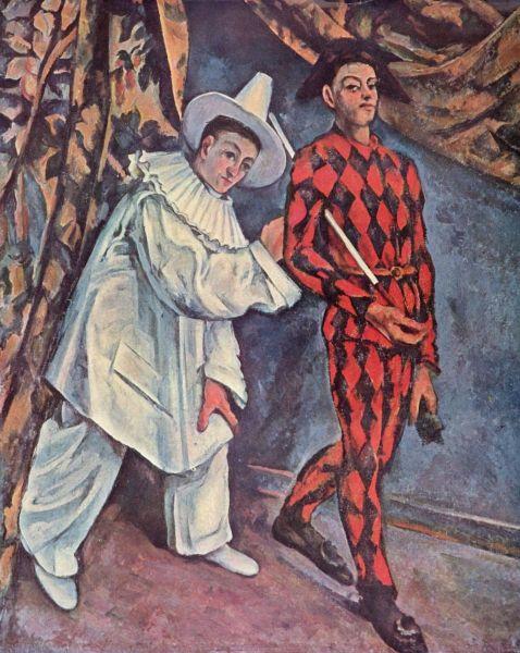 Поль Сезанн, «Пьеро и Арлекин», фрагмент «Изабелла», 1890 г.