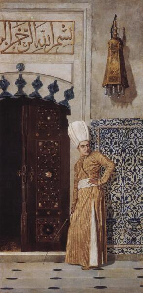 В. В. Верещагин, «Евнух у дверей гарема», 1870-е гг.