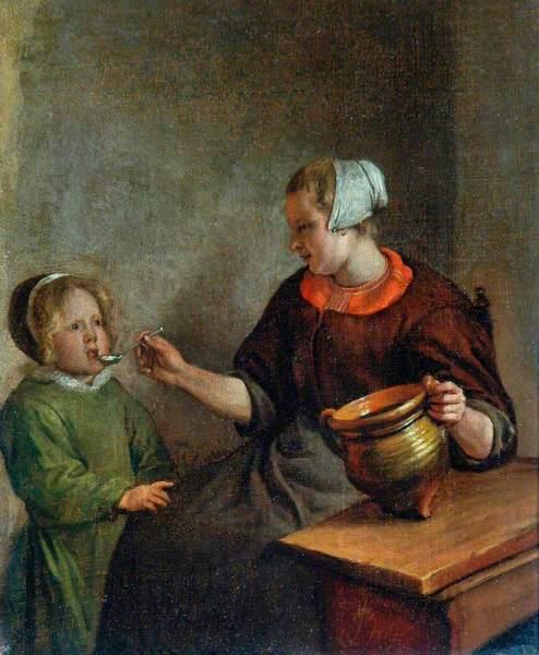 Ян Стен, «Мать и ребенок», 1660-е гг.