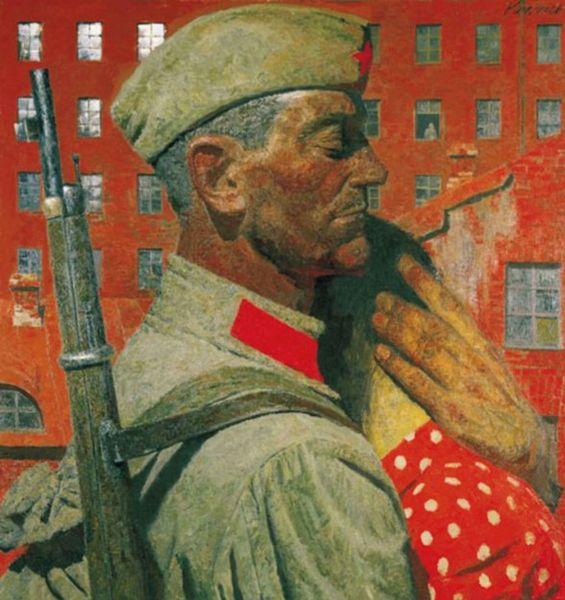 Г. М. Коржев, «Проводы», из серии «Опаленные войной», 1967 г.