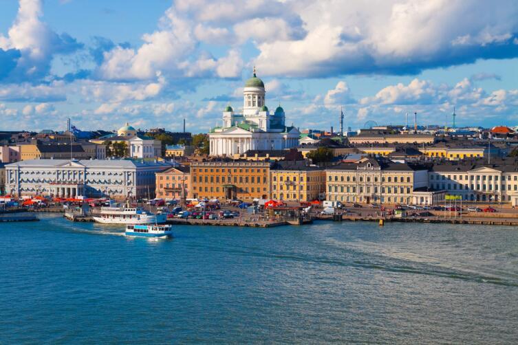 Летняя панорама Хельсинки, Финляндия
