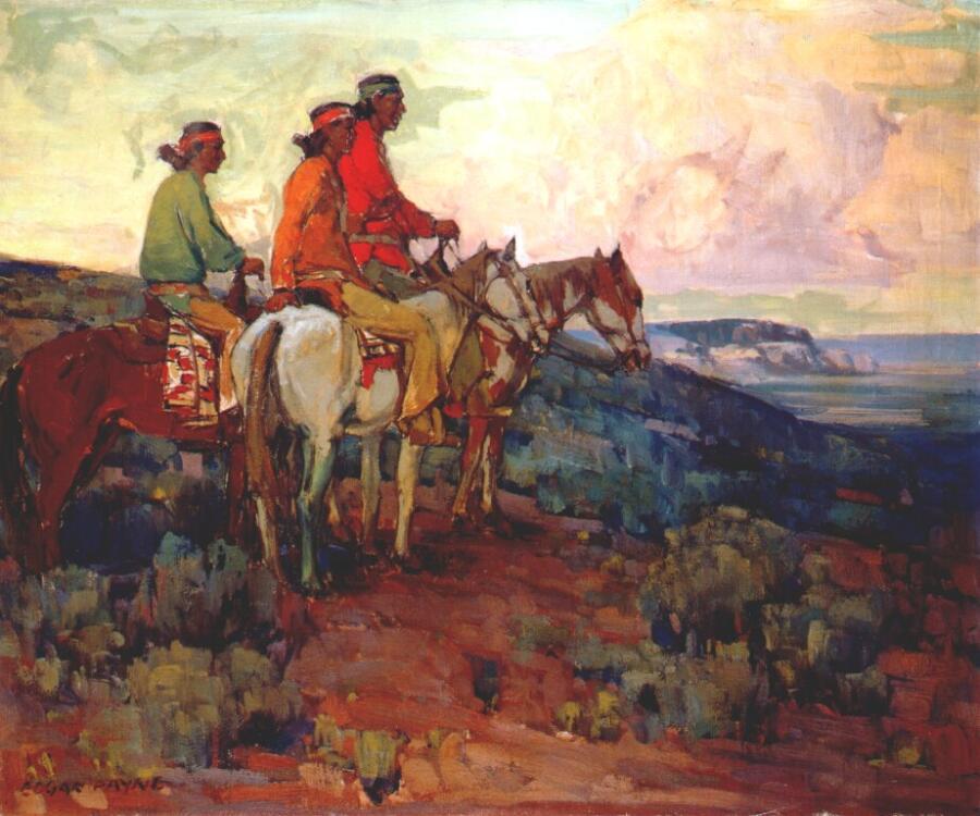 Эдгар Пейн, «Навахо всадники»