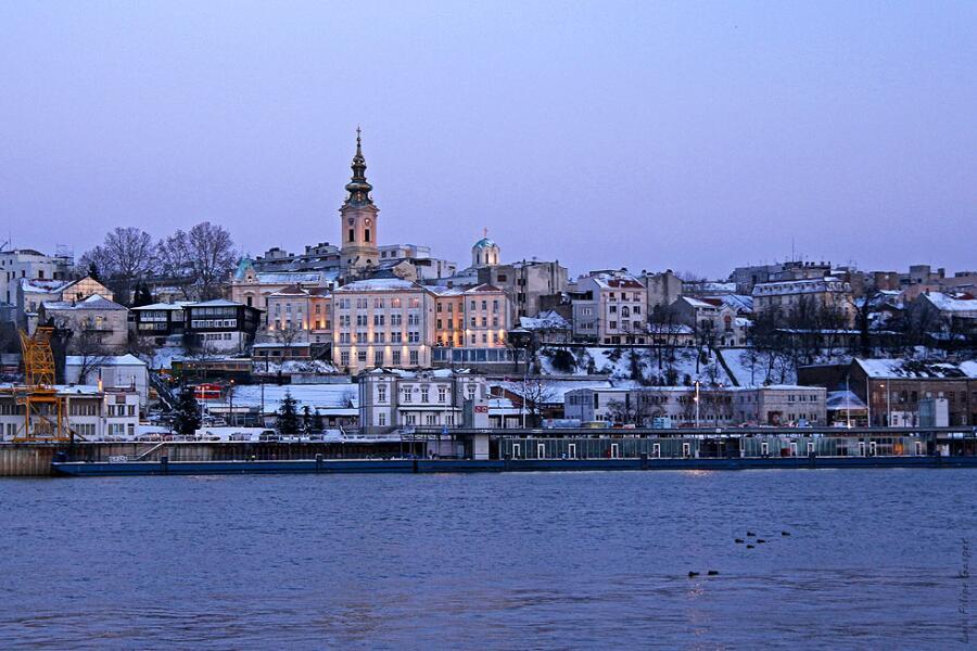 Вид на исторический центр Белграда
