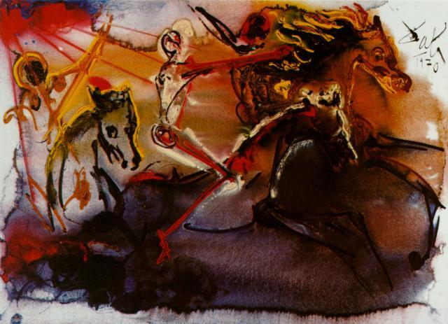 Сальвадор Дали, «Всадник Апокалипсиса», 1970 г.
