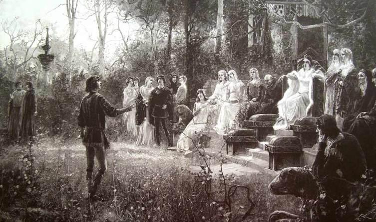 Хуан Пабло Салинас, «Боккаччо при дворе Джованны I Неаполитанской»