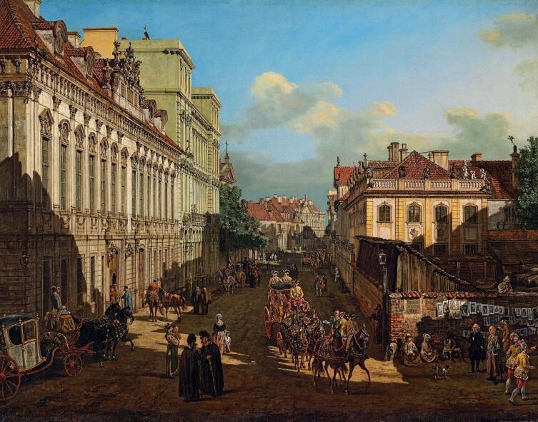 Бернардо Белотто, «Варшава, улица Медовая», 1777 г.