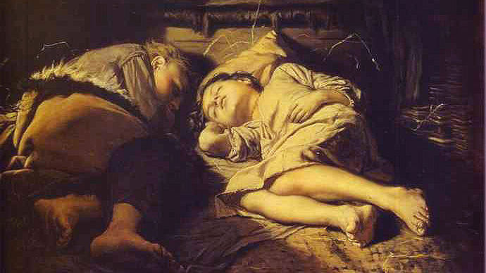 В. Г. Перов, «Спящие дети», 1870 г.