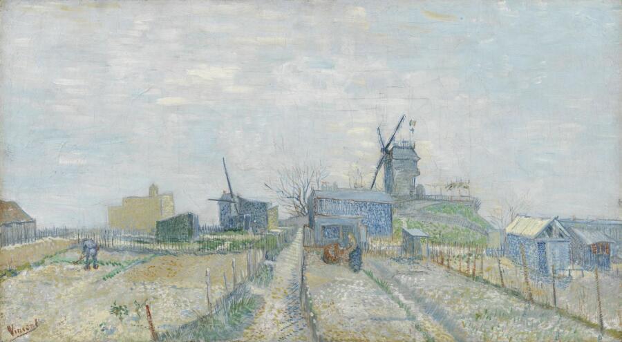 Винсент Ван Гог, «Огороды на Монмартре», 1887 г.