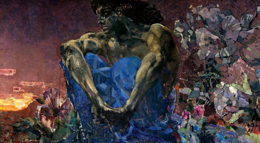 М. А. Врубель, «Демон сидящий», 1890 г.