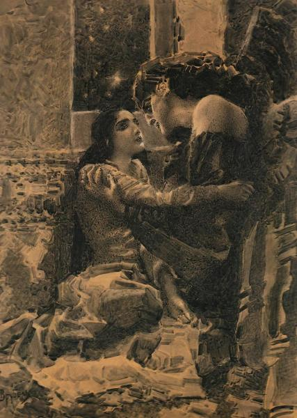 М. А. Врубель, «Тамара и Демон», иллюстрация к поэме М. Ю. Лермонтова, 1890 г.