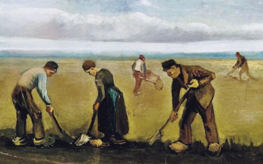 Винсент Ван Гог, «Крестьяне сажающие картофель», фрагмент