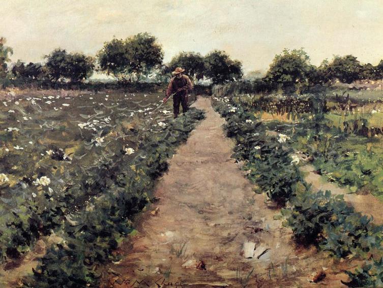 Уильям Меррит Чейз, «Окучивание картофеля»