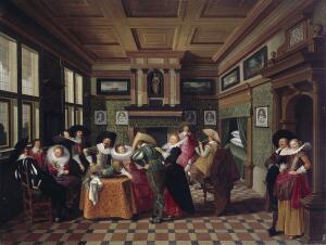 Дирк ван Делен. Как развлекались во дворцах?