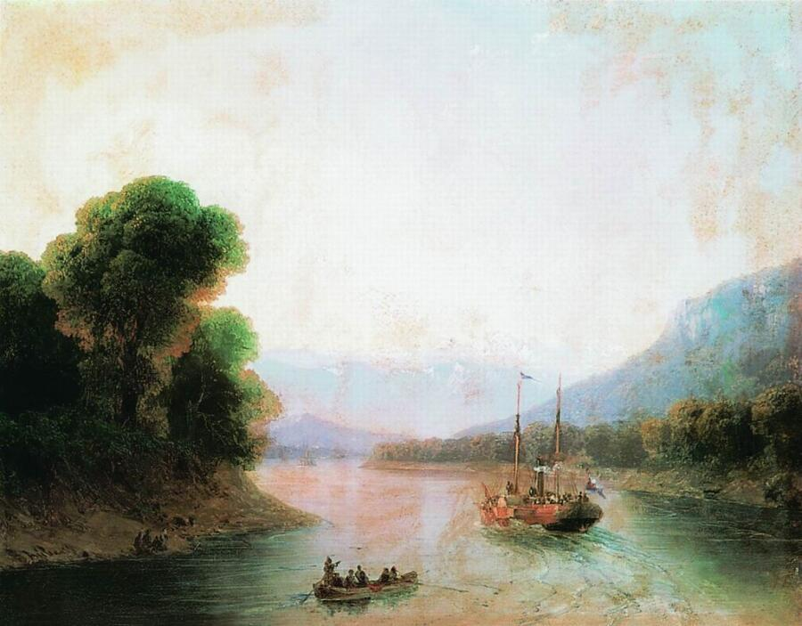 И. К. Айвазовский, «Река Риони. Грузия», 1870-е гг.
