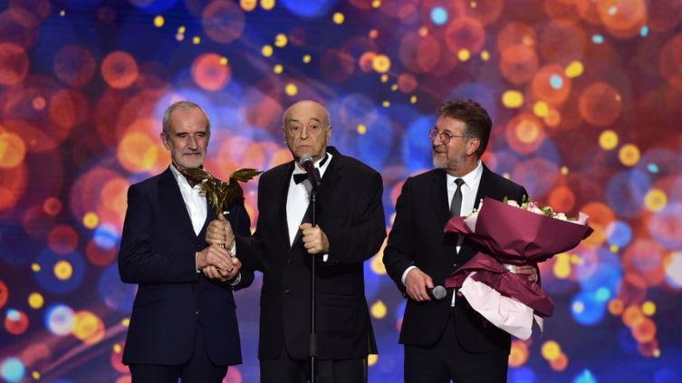 31-я церемония вручения премии «Ника», Римас Туминас, Владимир Этуш и Леонид Ярмольник