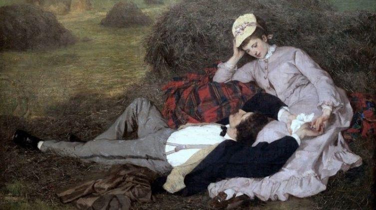 Пал Синьеи-Мерше,  «Влюбленные», 1870 г.
