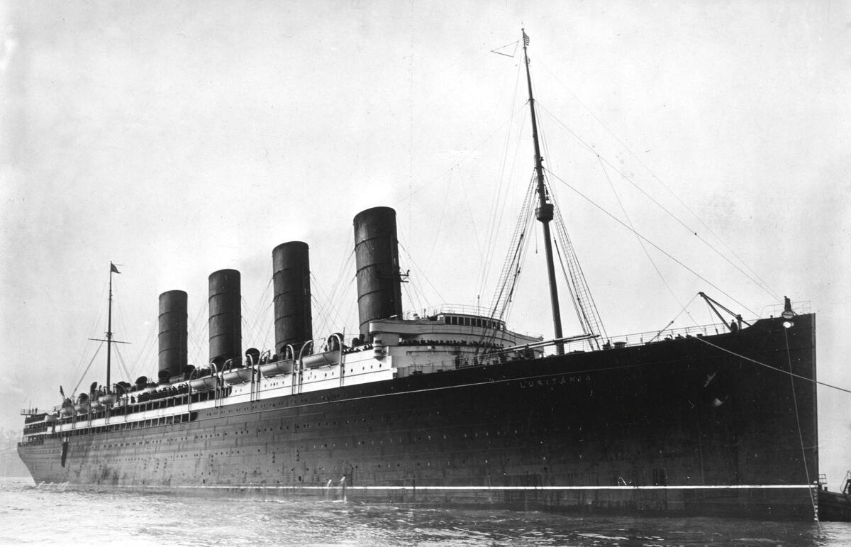 Фото затонувшей лузитании