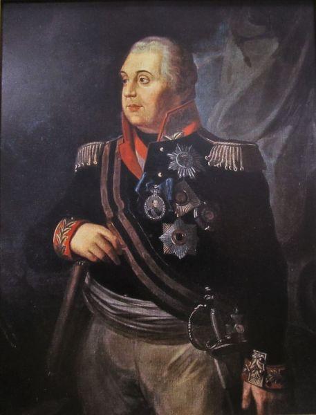 М. И. Кутузов, первый полный кавалер ордена Святого Георгия, в Георгиевской ленте, картина В. Р. Волкова