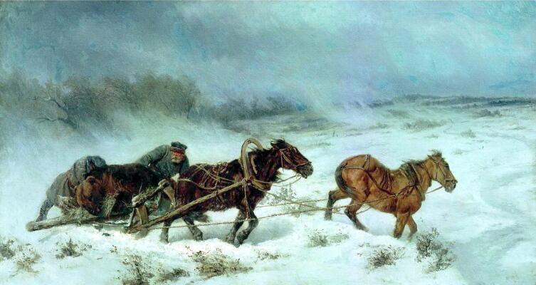 Н. Е. Сверчков, «Охота на медведя»