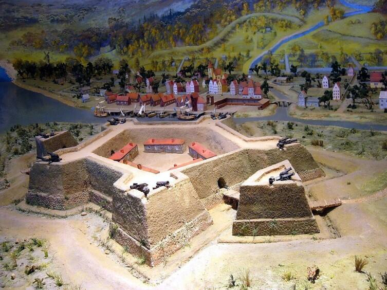 Макет крепости Ниеншанц в музее