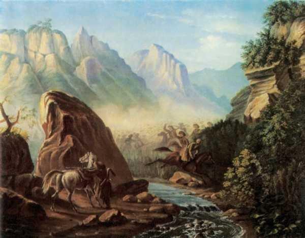 М. Ю. Лермонтов, «Перестрелка в горах Дагестана», 1840—41 гг.