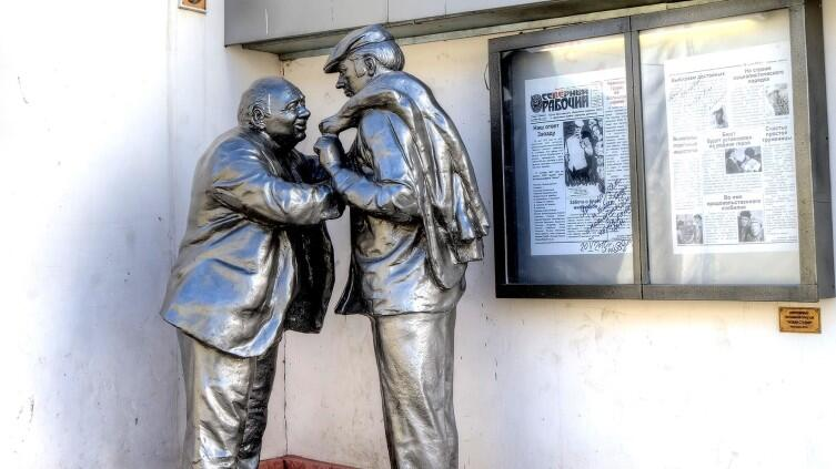Памятник Афоне и Коле (героям фильма