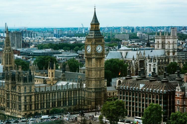 Бин-Бен, башня Вестминстерского дворца, Лондон
