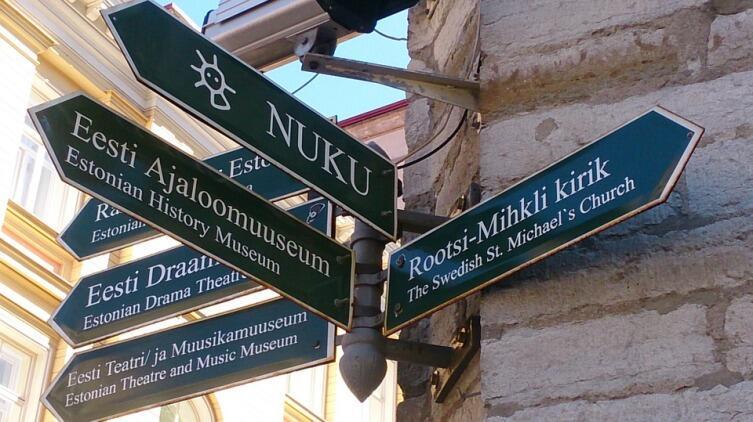 Уличный указатель в Таллине, Эстония