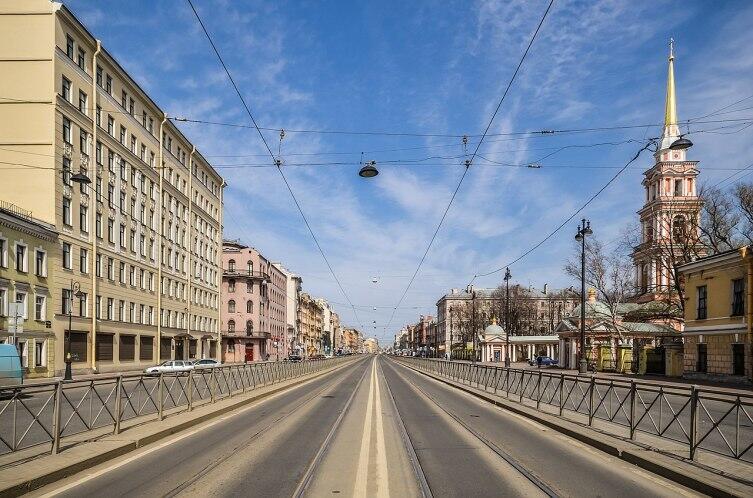 Лиговский проспект в Санкт-Петербурге