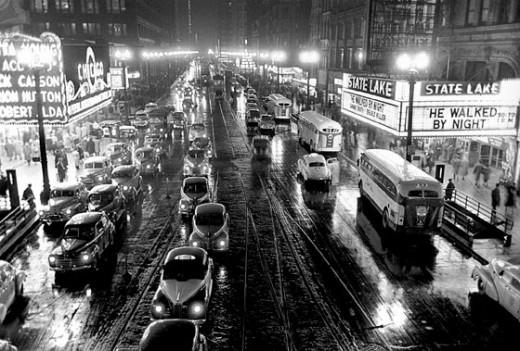 Фотография Чикаго, сделанная Кубриком в 1949 году
