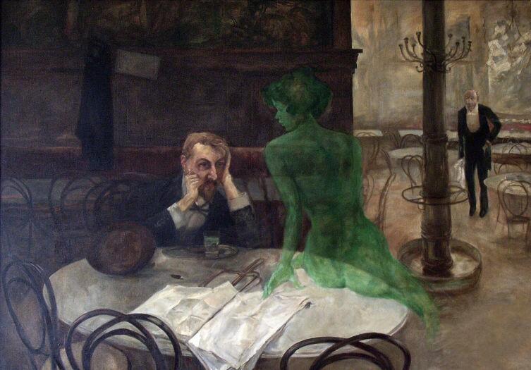 Виктор Олива, «Пьющий абсент», 1901 г.