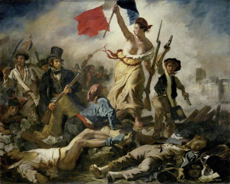 Эжен Делакруа, «Свобода, ведущая народ», 1830 г.