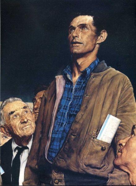 Норман Роквелл, «Четыре свободы. Свобода слова», 1943 г.