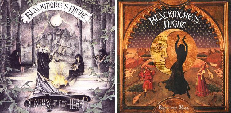 Обложки альбомов «Shadow of the Moon» и«Dancer and the Moon»