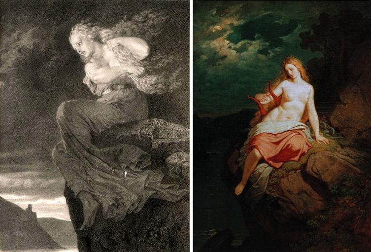 Лорелея на картинах художников XIX века— Эд. Шмица и Филиппа фон Фольца