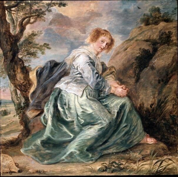 Рубенс «Агарь в пустыне» 1630 г., 72×73 см, Далиджская картинная галерея, Лондон, Англия